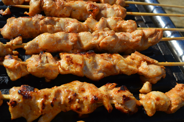 Lemon  harissa chicken skewers